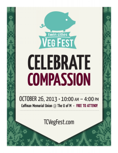 Twin Cities Veg Fest 2013 Poster
