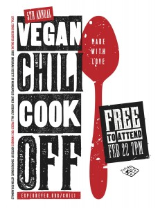 Poster for the 2014 Vegan Chili Cook-Off
