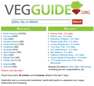 VegGuide.org Front Page