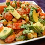 Chickpea & Veggie Salad with Tahini Dressing