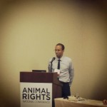Unny speaking at Animal Rights 2014