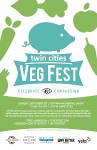 Twin Cities Veg Fest poster