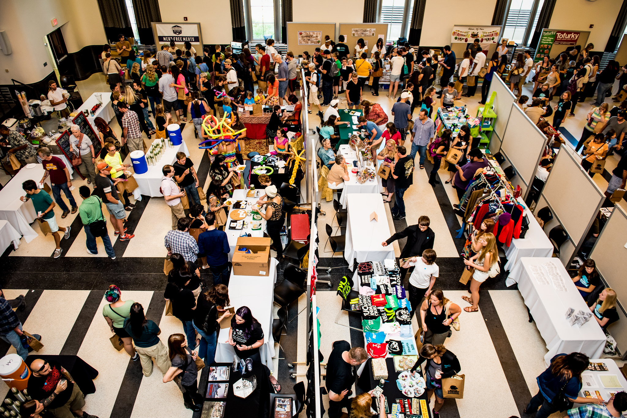 The exhibitor hall at Twin Cities Veg Fest 2014
