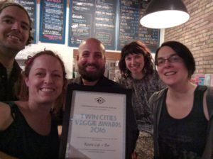 Reverie staff with 2016 award