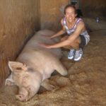 Justin and Sophie at Farm Sanctuary in LA
