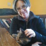 Laura and Mitzi the cat