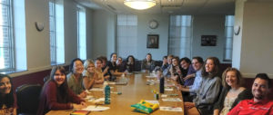 Students at a University of Minnesota Chapter Meeting